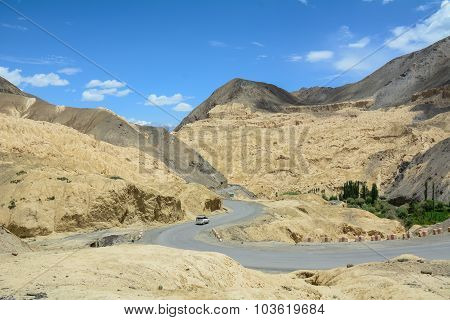 Mountain Landscape Of Ladakh, India