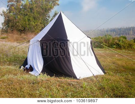 Large Pavillion Tent At Sunset