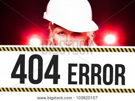 Worker Holding 404 Error Sign On Information Board