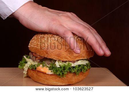 Hand Pressin Burger