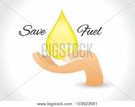 Save Fuel Background With Drop