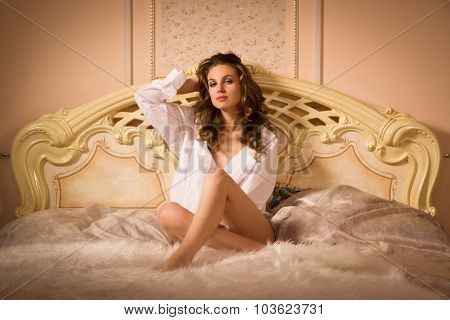 Sexual Woman On The Bed