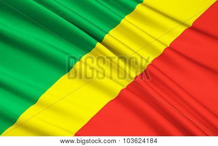 Flag Of Republic Of The Congo, Brazzaville