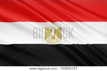 Flag Of Egypt, Cairo