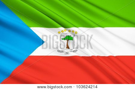 Flag Of Equatorial Guinea, Malabo