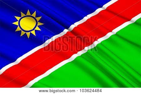 Flag Of Namibia, Windhoek