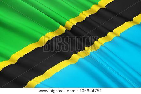 Flag Of Tanzania, Dodoma
