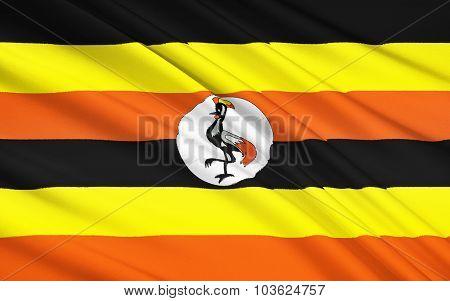 Flag Of Uganda, Kampala