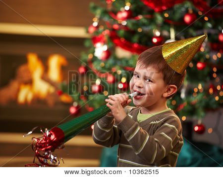 Little Boy At New Year's Eve