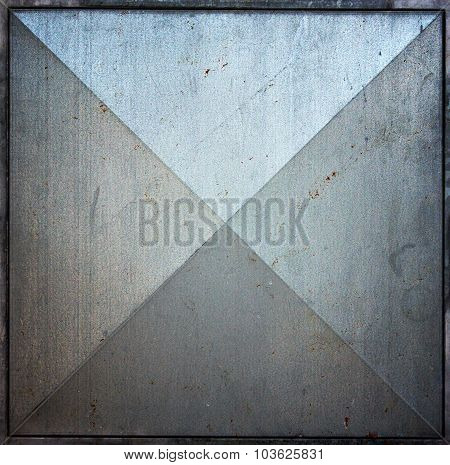 Metal Square Tile Texture Background