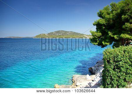 Panorama Of Warm And Clean Sea, Croatia Dalmatia