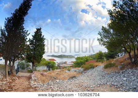 Panorama Of Coast, Islands And Old Town, Croatia Dalmatia
