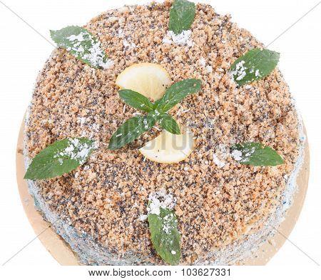 Lemon Cream Cake With Mint