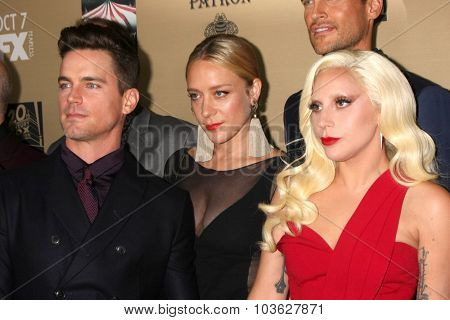 LOS ANGELES - OCT 3:  Matt Bomer, Chole Sevigny, Lady Gaga at the