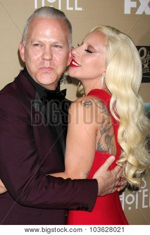 LOS ANGELES - OCT 3:  Ryan Murphy, Lady Gaga at the