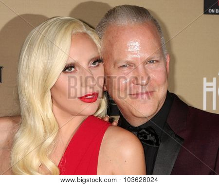 LOS ANGELES - OCT 3:  Lady Gaga, Ryan Murphy at the