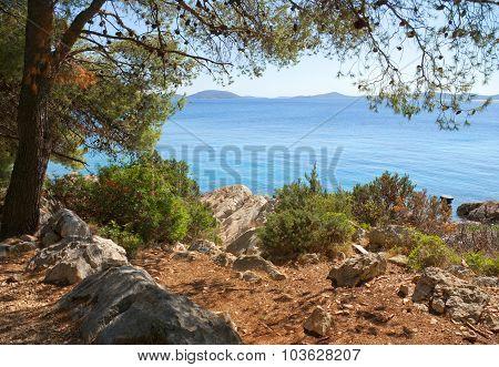 Rocky Coast Of The Turquoise Sea, Croatia Dalmatia
