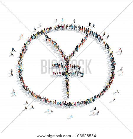 people shape  sign  yuan money
