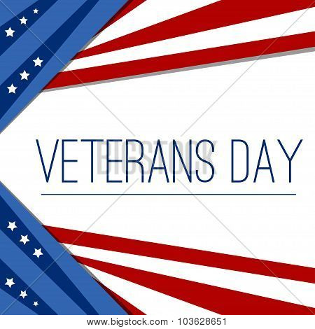 USA flag in style vector. Creative Abstract Happy Veterans Day,  Independence Day, vector Illustrati