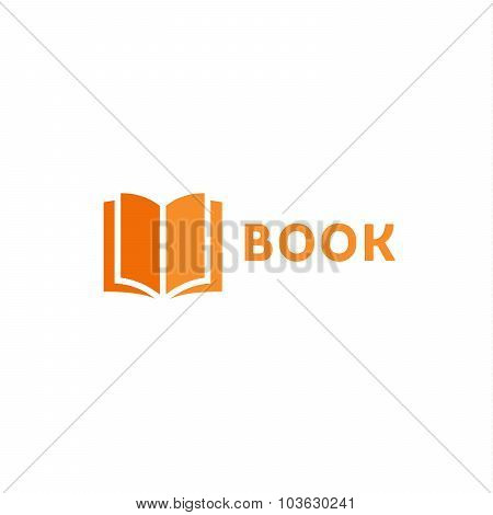 Book page icon logo orange vector style flat