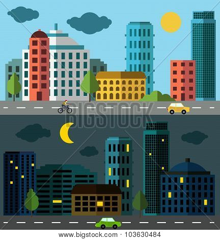 City panorama set