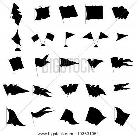 Flag silhouette set