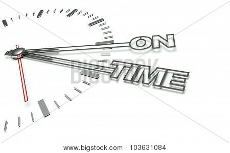 Clock With Words On Time, Concept Of Success