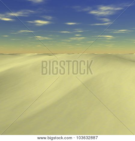 Yellow mountains from sands on ground
