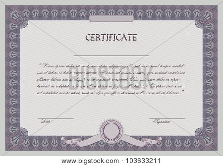 Certificate Frame Template. Retro Style.
