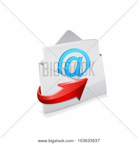 Email envelope. Vector