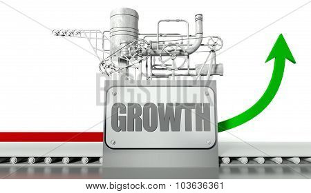 Growth Concept With Graph And Machine