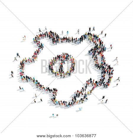 group  people  shape  gear