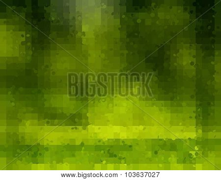 Green Background With cubes,