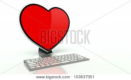 Virtual Love On The Internet Concept