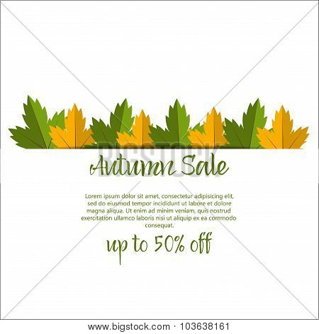 Big Autumn sale. Fall sale design. Three banners collection. Can be used for flyers, banners or post