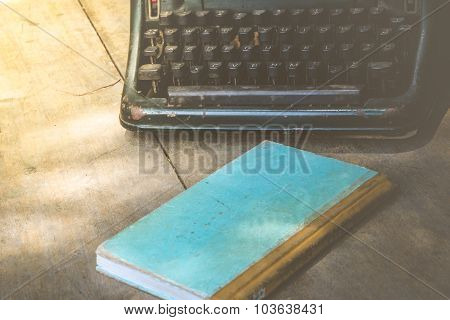 Typewriter And Notebook , Vintage Style