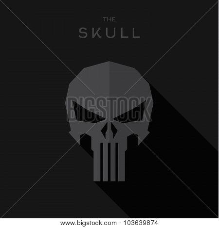 Mask villain Hero superhero skull flat style icon vector logo, illustration