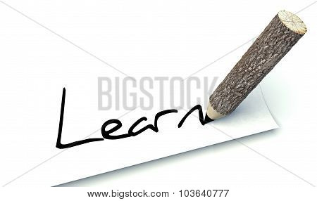 Learn Concept, Ecology Wooden Pencil Tree Trunk