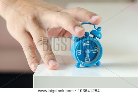 Hand Stop The Alarm Clock