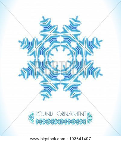 Snowflake. Christmas art background