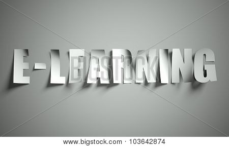 E Learning Cut From Paper On Background