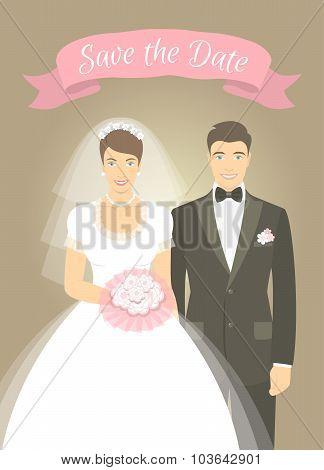 Wedding Photo Portrait Of Bride And Groom