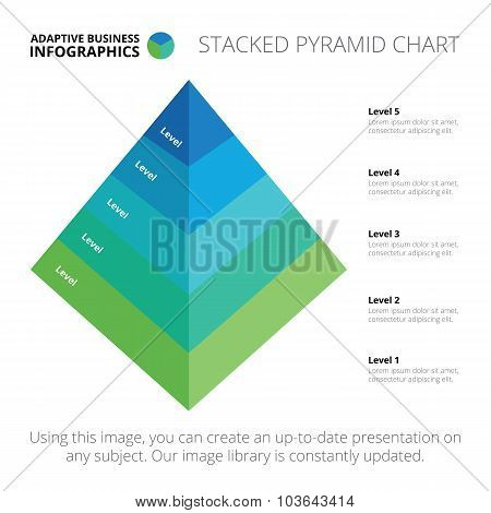 Stacked pyramid chart template 3