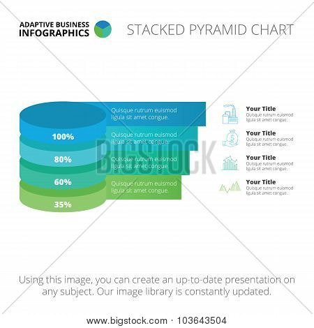 Stacked pyramid chart template