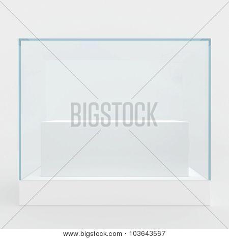 Empty glass showcase
