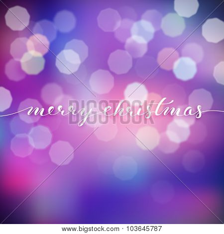Christmas illustration on blurred background