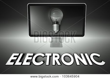 Screen And Light Bulb With Electronic, Support