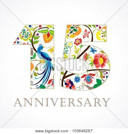 15 anniversary ethnic numbers