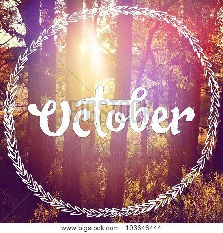 Inspirational Typographic Quote - October