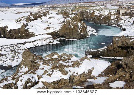 Waterfall Godafoss, Iceland